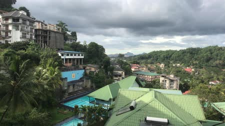 Kandy, Sri Lanka, view of the roofs of houses from the mountain 4K 動画素材