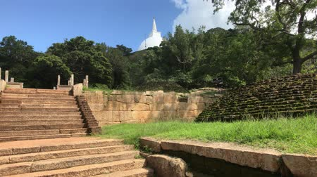 Mihintale, Sri Lanka, view of the dome and the remains of the staircase 4K