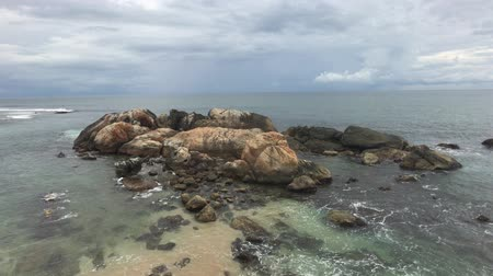 Galle, Sri Lanka, sea view from the wall 4K Stok Video