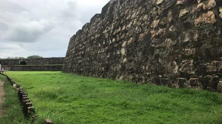 bitki : Galle, Sri Lanka, the main wall of the fortress close-up 4K