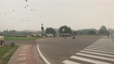 mahal : New Delhi, India, November 11, 2019, tourists approach the intersection of roads 4K