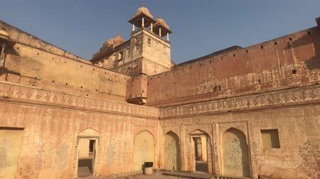 amer fort : Jaipur, India, November 05, 2019 Amer Fort inner courtyard of the fortresss economic premises part 8 4K