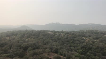 jaigarh : Jaipur, India - ancient walls of the fort and view of the mountains from a height part 7 4K