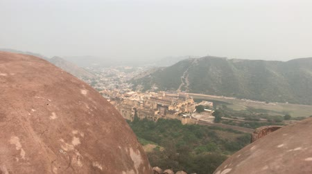 kráva : Jaipur, India - View of the fortress from afar part 11 4K