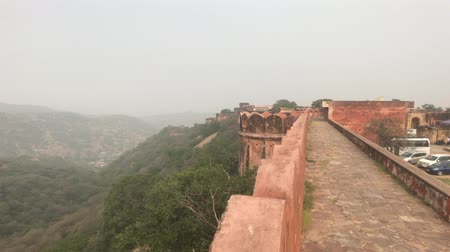 jaigarh : Jaipur, India - view of the well-preserved walls and buildings of the old fort part 2 4K