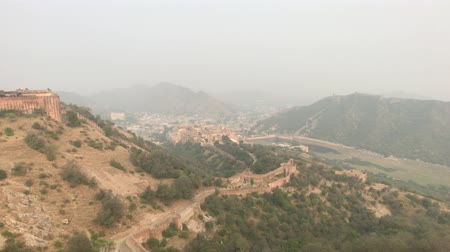 jaigarh : Jaipur, India - beautiful view of the neighborhood from the height of the fortress part 11 4K