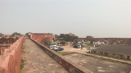 ambar : Jaipur, India - view of the well-preserved walls and buildings of the old fort part 3 4K