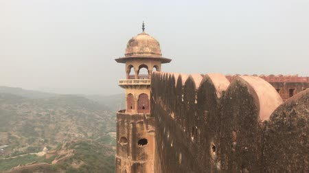 jaigarh : Jaipur, India - View of the fortress from afar part 2 4K Stock Footage