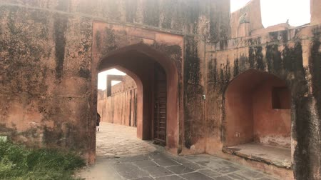 jaigarh : Jaipur, India - tourists climb into the old fortress4K Stock Footage