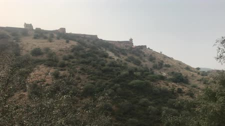 develop : Jaipur, India - long fortified wall in the old fortress part 13 4K