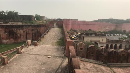 jaigarh : Jaipur, India - long fortified wall in the old fortress part 17 4K Stock Footage