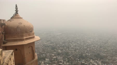monkey : Jaipur, India - View from above the old historic fortress part 17 4K