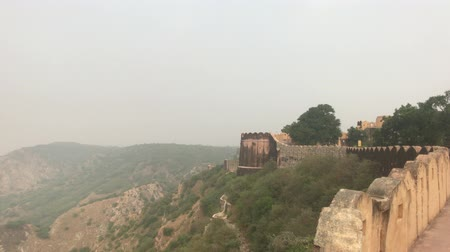 jaigarh : Jaipur, India - View from above the old historic fortress part 7 4K Stock Footage