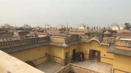 Дели : Jaipur, India - Empty roofs of old buildings part 2 4K