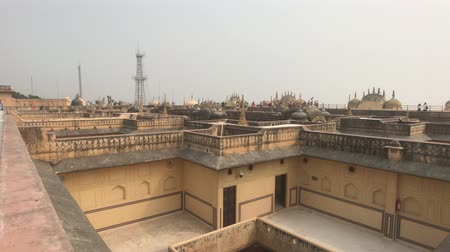 yoksulluk : Jaipur, India - Empty roofs of old buildings part 4 4K