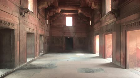 Дели : Agra, India - Agra Fort, empty space in the red fort 4K Стоковые видеозаписи