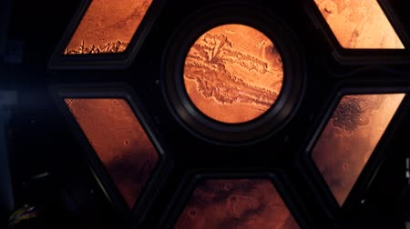 mléčný : Space ship travelling to Planet Mars 4k Dostupné videozáznamy