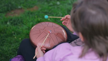 Hang. Hang drum music instrument Stock Footage
