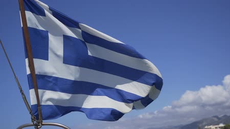 yunan : Greek Flag in the Blu Sky