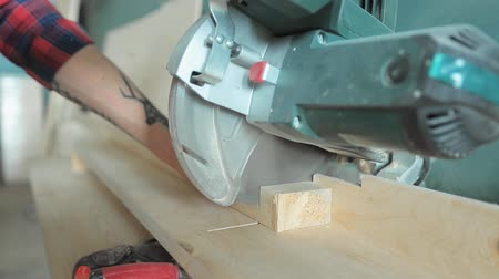 miter saw : Compound miter saw Stock Footage