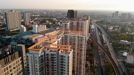 Panning shoot: Aerial view over condominium and the road to upcountry , Live in Bangkok, Thailand Dostupné videozáznamy