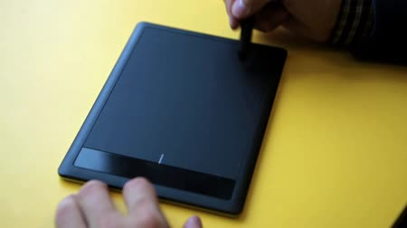 digitized : Graphic designer using digital tablet