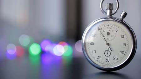 Clock on a blurry background with bokeh