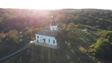 Aerial Survey Of Village Church Vídeos