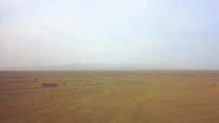 yazd : Kashan to Yazd by Train from the Window Shooting the Desert and Landscape