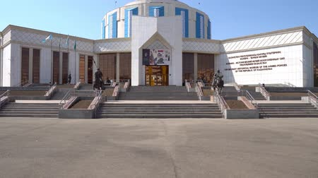 dárda : Sultans Astana Kazakhstan Military History Armed Forces Museum Main Gate Entrance View on a Blue Sky Day