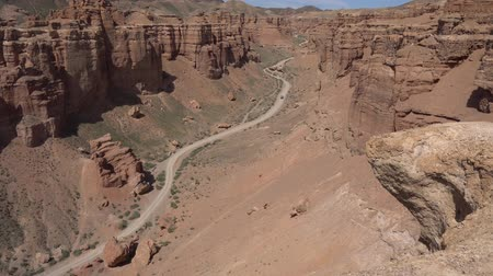 minibus : Charyn National Park Sharyn Canyon Breathtaking Picturesque View of Rock Formations