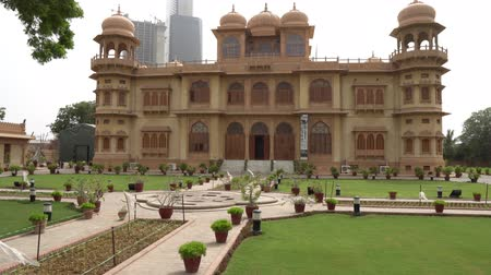 Karachi Mohatta Palace Museum at Hatim Alvi Road on a Cloudy Day Stock Footage