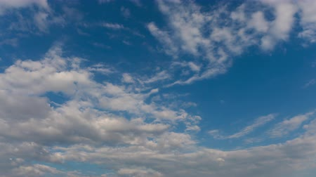 Blue sky with flying clouds, professional shoot, no birds, no flicker
