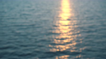 Beautiful sunset, sun reflect in sea water. 4k pro res video. Wideo