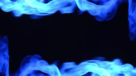 abstract blue smoke waving on edges