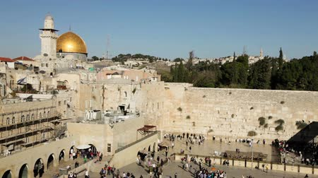 jeruzalém : Dome of the Rock and the Western Wall in Jerusalem