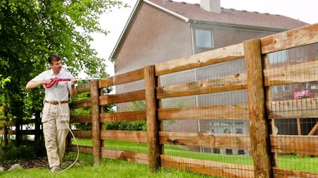 кедр : Fence power washing