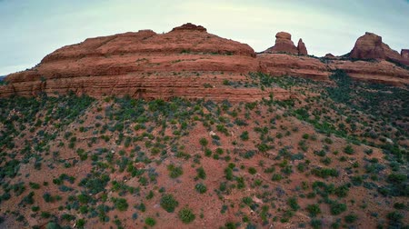 panorâmico : Panoramic aerial view of Red Rock formations at Schnebly Hill near Sedona Arizona