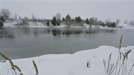 mrazivý : Lake freezing over
