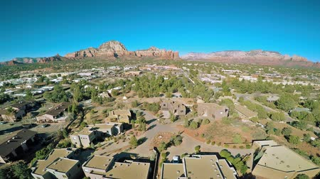 homes : Aerial view of Sedona, Arizona and Red Rocks formations