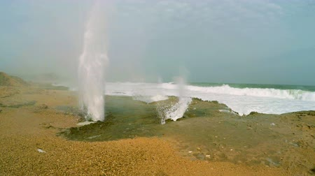 Blow hole at Al Mughsayl beach near Salalah, Oman