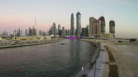 эмираты : Dubai Canal sunset