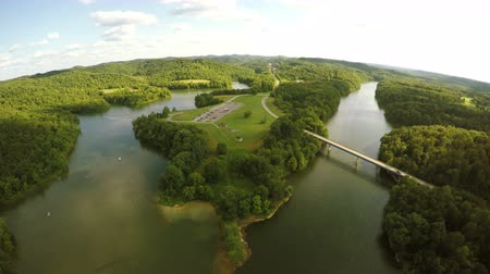 Aerial view of Grayson Lake in Kentucky