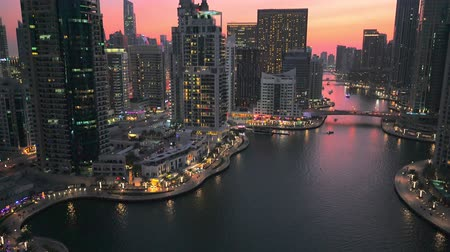 View of modern building in Dubai Marina, UAE