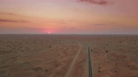 Sunset over Middle Eastern desert