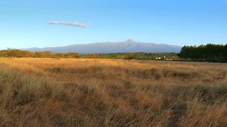 Panoramic view of Mount Kenya at sunset
