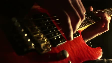 blues music : Musician playing electric guitar.