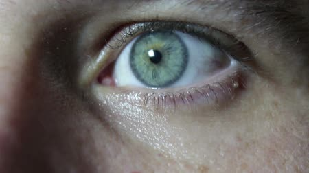 wzrok : Gray-green eye of a young handsome guy close up.