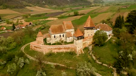 középkori : Fortified Church in Alma Vii village, Transylvania - Romania