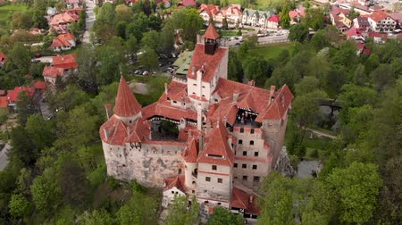 otruby : Aerial view of Bran castle, Brasov - Romania
